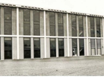 The 1977 addition to the back side of Adams Library added 50,000 square feet. Pictured above, the backside  of the library prior to the addition. (photo: RIC Archives)