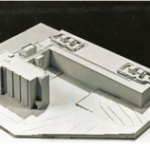 Lamborghini & Pipka scaled model of Craig-Lee Hall with 1970 addition. (photo: RIC Archives)
