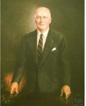 Offical portrait of Governor Dennis J. Roberts (artist: Germain Glidden, R/ State House)