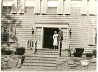 President & Mrs. Gaige were the first occupants of the President's House (photo: RIC Archives)