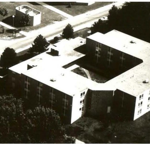 Aerial view of Thorp Residence  Hall  (photo: RIC Archives)